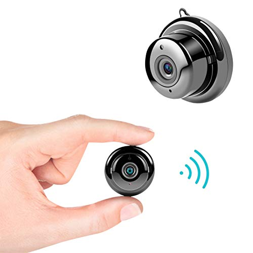 GFITNHSKI Mini cámara espía inalámbrica, cámara espía oculta, cámaras de seguridad para el hogar portátil de 4K HD 1080P, cámara inalámbrica WiFi pequeña, con detección de movimiento de visión nocturn