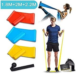 フィットネスバンド エクササイズバンド 筋トレ 強度別3本 ループバンド トレーニング チューブ ヨガバンド レジスタンスバンド 1.5m 1.8m 2m 男女兼用