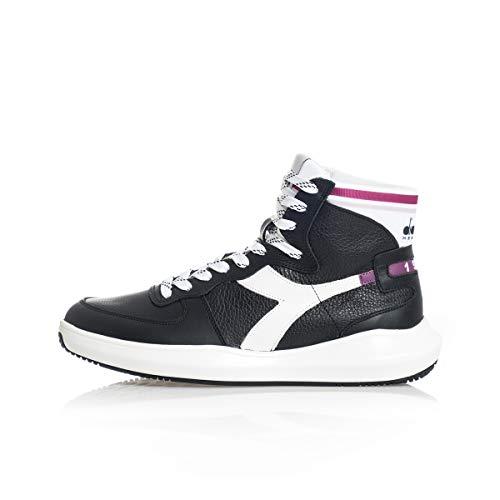 Diadora Heritage Scarpa Sneaker Unisex Mi Basket H Leather MDS Nero - 45