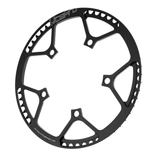 F Fityle Aluminium Fahrrad Kettenblatt Kettenblätter Chainring 130 BCD - Schwarz 58T
