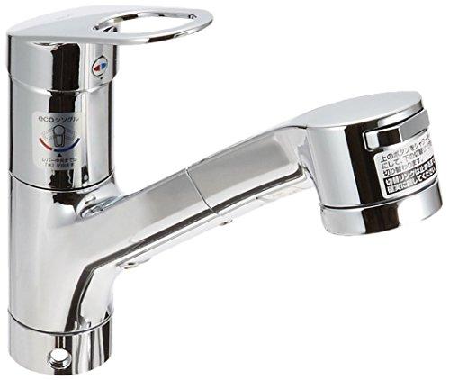 台付シングル混合水栓(エコシングル、ハンドシャワー) TKGG32EBS