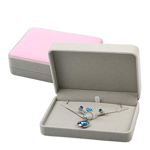 YuoungYuan Caja de Regalo Cajas para Joyas Cuadrado Caja de joyería Anillo Organizador Caja de Collar Caja Colgante Pendientes Pendiente Bandeja de joyería Set Box 2
