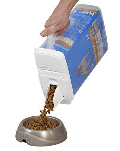 Buddeez 8Qt Pet Food / Bird Seed Storage Container and Dispenser - Flip Lid /Pour Spout with Durable Handle