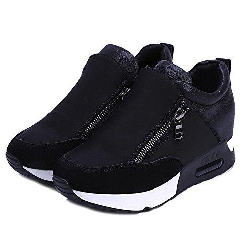 Weant Chaussures Femme Baskets Mode Mixte Adulte Chaussures Femmes ete Baskets Mode Chaussures de Sport Bottes Classiques Femmes en Cours d'exécution randonnée épaisse Plate-Forme (34 EU, Noir)