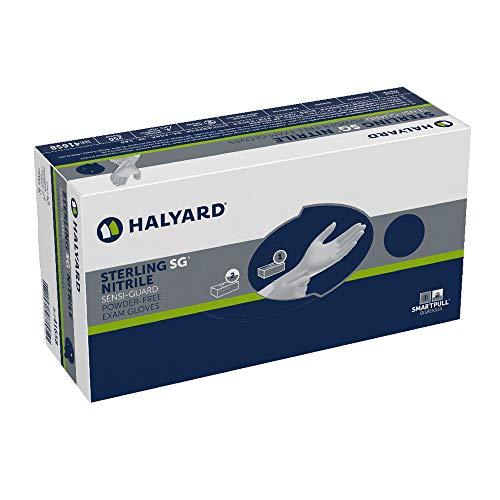 HALYARD Sterling SG Exam Gloves, Powder-Free, Sensi-Guard, 3.5 mil, Small, 41658 (Box of 250)