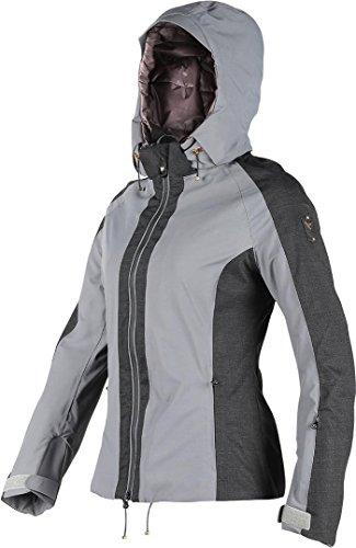 Dainese Damen Skibekleidung Epaule D-Dry Jacket, Steel-Grau/Anthrazit-Melange, M