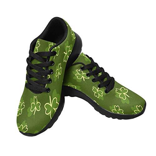 InterestPrint Women's Sports Road Running Shoes Shamrock US8