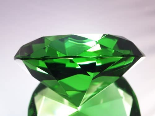 Emerald Crystal Diamond 100mm New products world's highest Cheap mail order specialty store quality popular Paperweight Jewel
