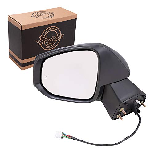 Replacement Driver Power Side Door Mirror Heated Signal Puddle Lamp Blind Spot Detection Compatible with 2019 2020 RAV4 RAV4 Hybrid