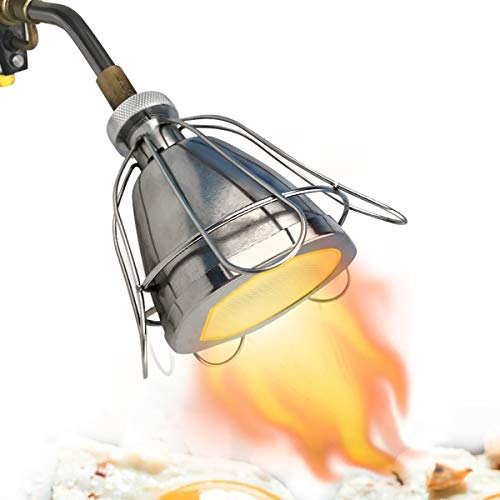 Ztpower Barbecue Torcia Attacco Acciaio Inox Culinario Torcia Attacco Cucinare Ardente Griglia Capocuoco Fiamma Ossidrica per Bistecca Griglia Barbecue Culinario Riscaldamento Fondente