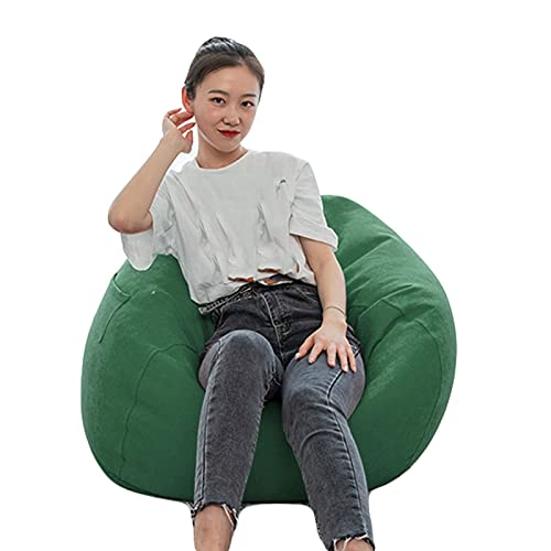 Stuffed Animal Storage Bean Bag Chair Adults Large High Back Bean Bag Sofa Cover Recliner Gaming Storage Bag for Indoor Outdoor BeanBag Chair No Filling