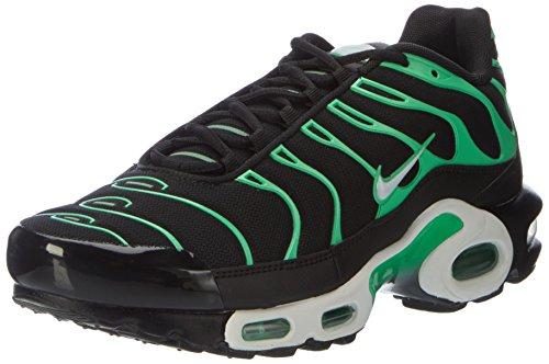Nike Air Max Plus, Scarpe da Ginnastica Uomo, Nero (Black/White/Electro Green), 40.5 EU