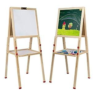 Mia Toys Pizzara Niños con 112 accesorios educativos Pizarra Infantil Caballete Estable con pies Regulables