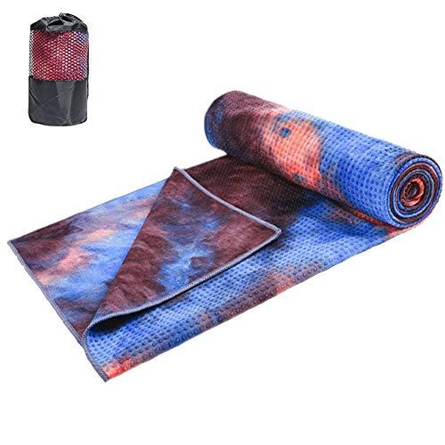 Non Slip Yoga Handdoek, Microvezel Zweet Absorberen En Snelle Droge Mat Handdoek met Tas voor Hot Yoga,Pilates,Bikram en Uitwerken