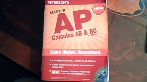 Master The Ap Calculus Ab Bc 2nd Edition Petersons Ap Calculus