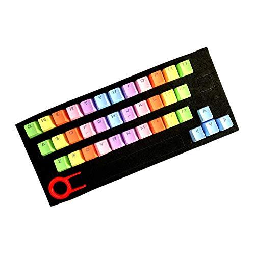 Cicony 37 Key Keycap mecánico teclado Translucidus PBT Gaming Keycap Set, No cero., azul, Tamaño libre