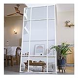 Espejo de Cuerpo Entero Rectangular Blanco [160 x 60 x 3cm] | Diseño danés | Espejo Grande y Largo de pie | Vertical y Horizontal