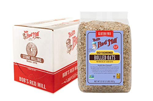 Bob's Red Mill Gluten Free Old Fashion Rolled Oats 32 Oz. Pack Of 4