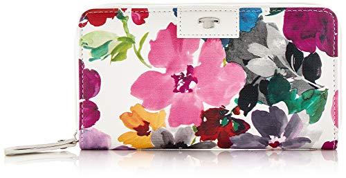 TOM TAILOR Acc Damen Miri Riviera Geldbörse, Weiß (Blumen weiß), 19.5x10.5x2.5 cm