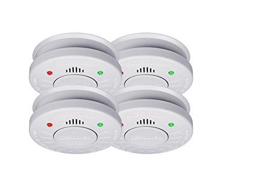 4er-Set SMARTWARES Rauchmelder mit 10 Jahres Batterie - VdS Zertifiziert + Stummschaltfunktion
