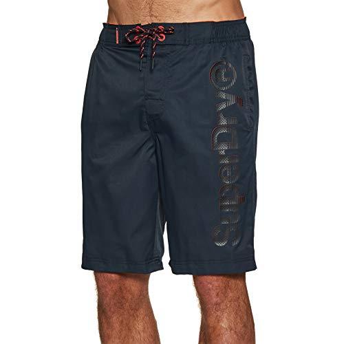 Superdry Mens Classic Boardshort Board Shorts, Darkest Navy, 2XL