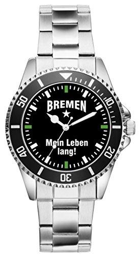KIESENBERG - Bremen Geschenk Artikel Idee Fan Uhr 2281