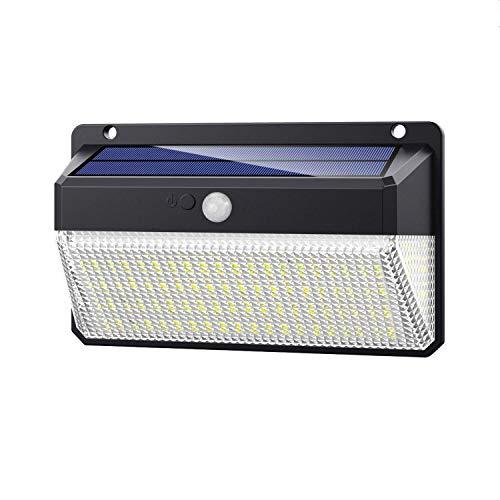 Luz Solar Exterior 228 LED, Trswyop [1 Unidades-2000 Lumens-2200mah] Foco Solar Exterior con Sensor de Movimiento Luces led con Gran Ángulo Iluminación 270º Lámpara Solar Impermeable IP65 para Jardín