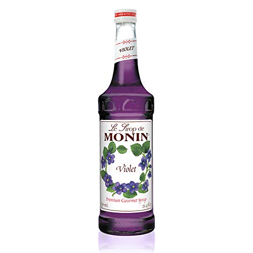 Monin - Violet Syrup, Mild and Floral, Great for Cocktails and Sodas, Gluten-Free, Vegan, Non-GMO (750 ml)
