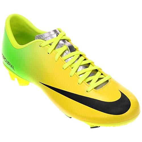 Chuteira Nike Infantil Campo Mercurial Iv Fg Tamanho:36;Cor:Verde