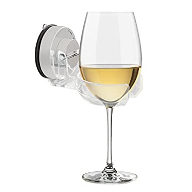 Carry360 Bath & Shower Wine Beer Holder, Multifunctional Bathtub Beer Wine Cupholder Caddy Strong Suction Cup Drink Holder, 2.7  Diameter 6.5lb Load-bearing