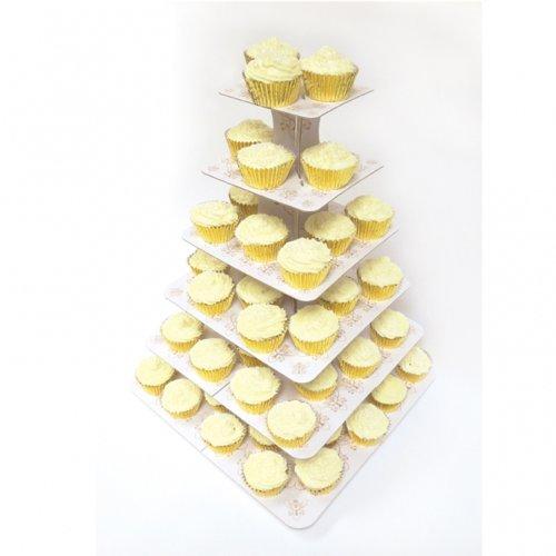 Amscan Rustieke bruiloft cupcake-standaard met 6 etages