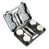 ZAZA Regalo de Acero Puro Box Set galvanoplastia con Mancuernas, Ajustable Peso Pesas for Mujeres y Hombres 10-15kg / 22-33lb Mancuernas para Ejercicio en casa (Color : Metallic, tamaño : 7.5kg x 2)