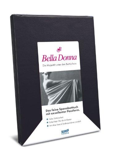 Formesse hoeslaken Bella Donna Jersey voor matrassen en waterbed 140-200x160-220 cm in zwart