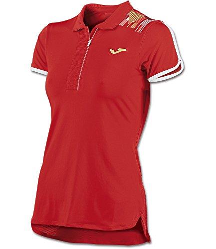 Joma - Polo de manga corta para mujer, color rojo