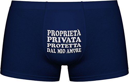 Herr Plavkin | proprietà privata protetta dal Mio Amore | Opzione Scuro : Scelta Casuale dei Colori per i Boxers (Nero, Grigio, Blu .).