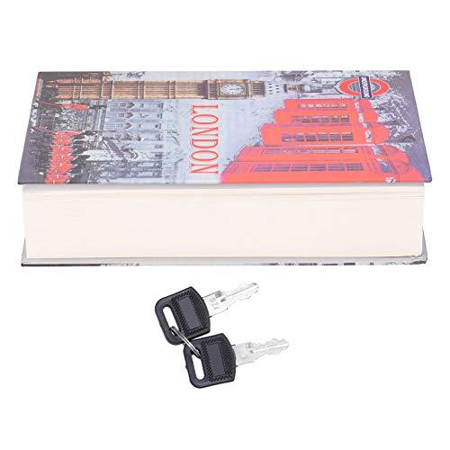 Caja de seguridad para libros de desvío, caja de seguridad para libros de simulación Caja de seguridad para almacenamiento de dinero en efectivo con llaves