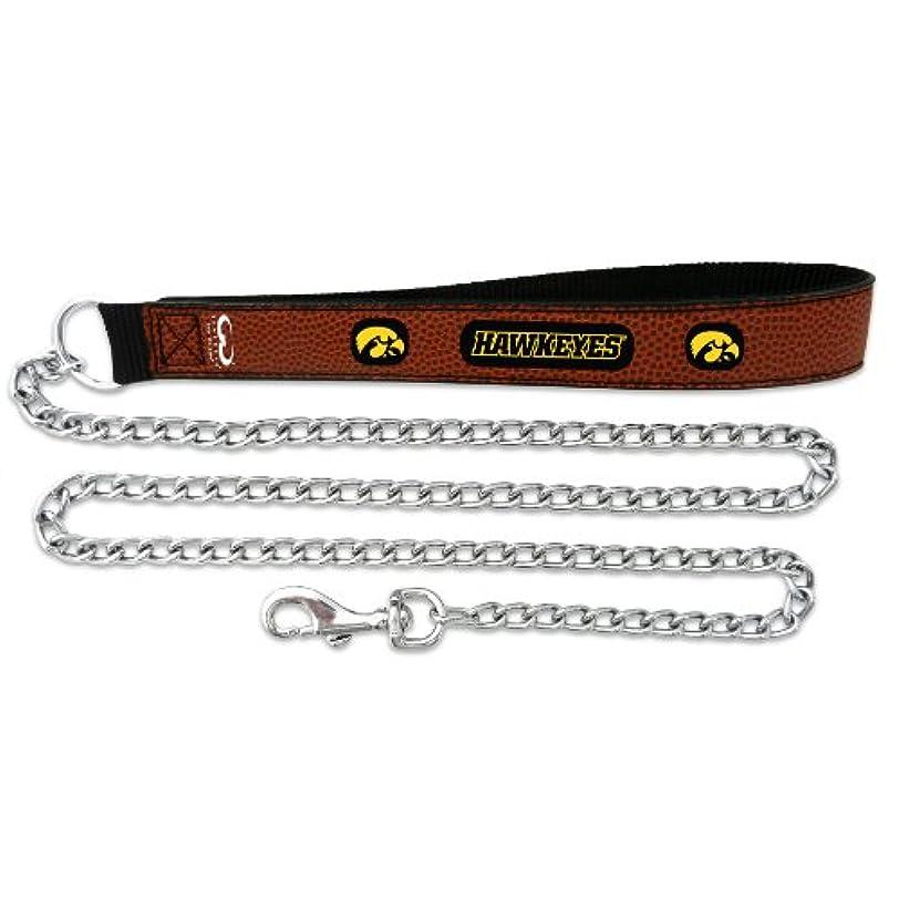 注入スポーツの試合を担当している人苦痛Iowa Hawkeyes Football Leather 2.5mm Chain Leash - M