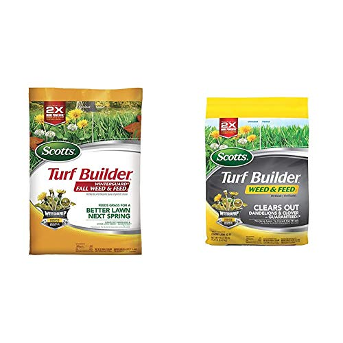 Scotts Turf Builder WinterGuard Fall Weed & Feed 3, 5,000 sq. ft. & Turf Builder Weed and Feed 3, 5,000 sq. ft.