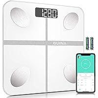 Guina Bluetooth Digital Body Fat Bathroom Weight Scale (White)