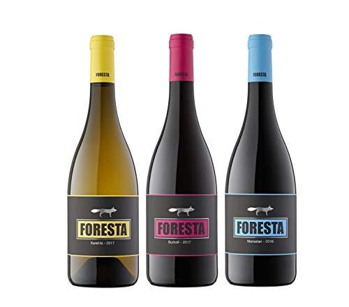 Vins&Co Barcelona Pack De Vinos Etiquetas Negras – Xarel-Lo 2017, Sumoll 2017 Y Marselan 2016 – Pack 3 Botellas – Selección Vins&Co - 750 ml