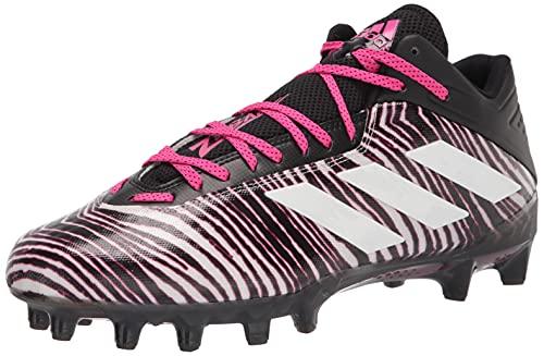adidas Men's Freak Carbon Football Shoe, Black/White/Shock Pink, 11 M US