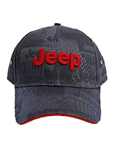 Jeep Charcoal Watermark Cap, Gray, Adjustable