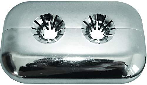 4 rosetas de cubierta doble para radiadores   cubierta para tubos de radiador   cubierta de tubo   cubierta de tubo   bisagra de plástico   variable para diámetro de 8 – 18 mm   montaje rápido