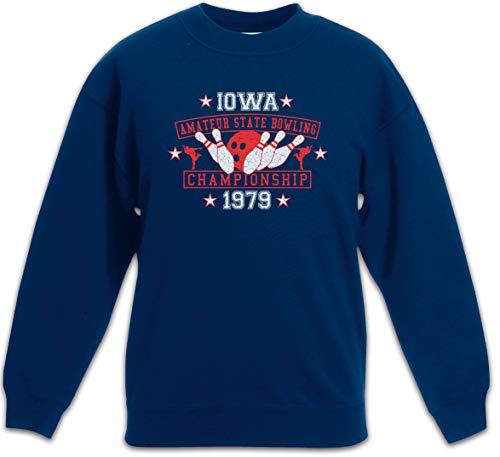 Urban Backwoods Iowa Amateur State Bowling Kinder Jungen Mädchen Pullover Blau Größe 4 Jahre