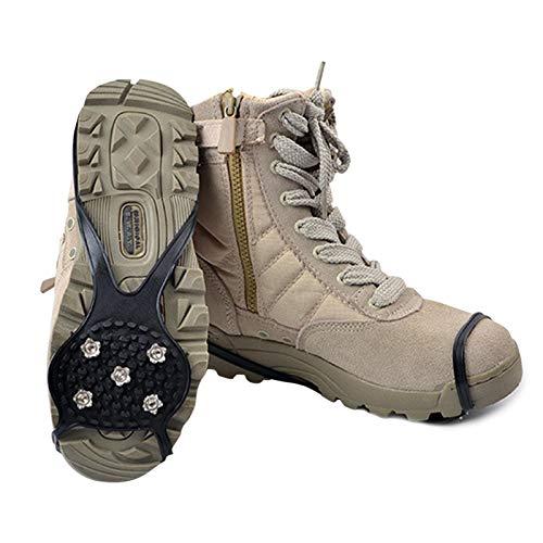 Ayuda de tracción para Hielo y Nieve, Equipo de Aventura Tacos de tracción para Hielo, puños para Nieve en Hielo Sistema de tracción Crampones Funda Antideslizante para Zapatos para Caminar