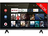 Tlviseur LED HDTV 80 cm TCL 32ES583 - TV LED 32 pouces - TV connect / Smart TV - Netflix - Android TV - Tuner TNT terrestre / satellite - Prise casque - Son 2 x 5 W