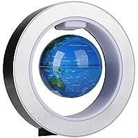 FTVOGUE Globo Flotante del Mapa del Mundo de la levitación magnética del Globo con la decoración Ligera del LED para los Ornamentos del Regalo (EU 220V)