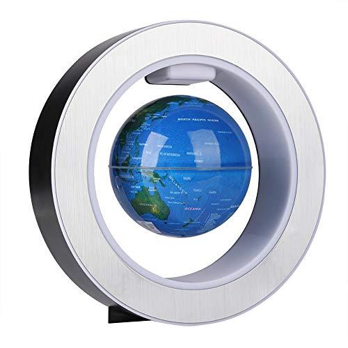 Simlugn Magnetschwebekugel, Floating Globe Magnetschwebekugel mit LED-Lichtdekor(EU Plug-220v)