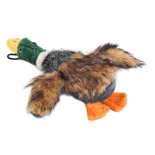 Oulii Hundespielzeug, Quietscheente, für Hunde, Spielzeug für kleine Hunde, Plüsch (braun)