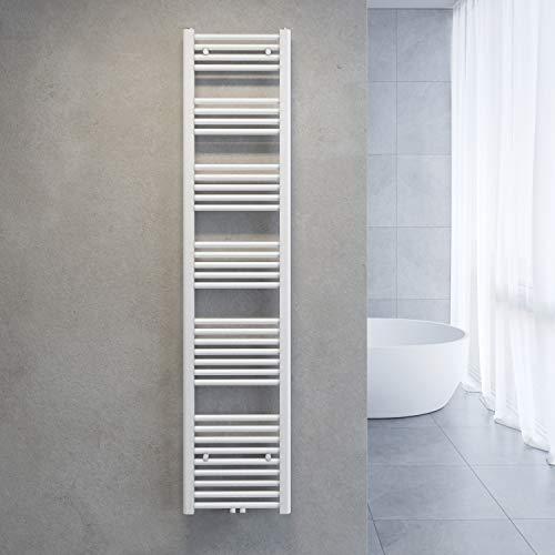 SONNI Handtuchtrockner Heizkörper Bad Mittelanschluss Handtuchwärmer Badheizkörper Weiß Gerade 40 * 180cm